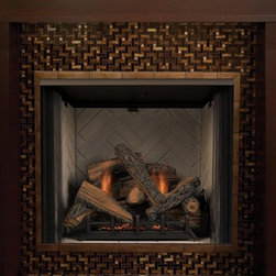 Majestic LCUF Lo-Rider Series 37'' x 34'' VENT FREE Firebox - LoRider fireboxes combine a low profilehearth design and a wide viewing area to dramatically showcase the flames at almost ground level. The tallest available opening ensure a great view from almost anywhere in the room.