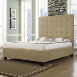 "dCOR design - Malibu-X Platform Bed - Features: -Hand crafted and assembled button tufted.-Tall and comfortable headboard.-Solid foundation.-Holds a mattress only.-Solid Wood Construction: Yes.-Upholstered: Yes -Upholstered Section: Headboard, footboard, frame.-Upholstery Material: Leather and fabric.-Upholstery Fill Material: High density, high quality inner foam.-Tufted: Yes..-Mattress Included: No.-Box Spring Required: No.-Headboard Storage: No.-Trundle Bed Included: No.-Attached Nightstand: No.-Built in Outlets: No.-Lighted Headboard: No.-Distressed: No.-Eco-Friendly: Yes.-Canopy Frame: No.-Hidden Storage: No.-Swatch Available: Yes.Specifications: -CA foam.-CARB certified.-CARB Compliant: Yes.Dimensions: -Wooden Feet Dimension: 4''.-Overall Height - Top to Bottom (Size: California King): 63"".-Overall Height - Top to Bottom (Size: King): 63"".-Overall Height - Top to Bottom (Size: Queen): 63"".-Overall Width - Side to Side (Size: California King): 77"".-Overall Width - Side to Side (Size: King): 81"".-Overall Width - Side to Side (Size: Queen): 65"".-Overall Depth - Front to Back (Size: California King): 89"".-Overall Depth - Front to Back (Size: King): 85"".-Overall Depth - Front to Back (Size: Queen): 85"".-Overall Product Weight (Size: California King): 200.62 lbs.-Overall Product Weight (Size: King): 235.89 lbs.-Overall Product Weight (Size: Queen): 191.8 lbs.-Headboard Dimensions Height (Size: California King): 63"".-Headboard Dimensions Height (Size: King): 63"".-Headboard Dimensions Height (Size: Queen): 63"".-Headboard Width Side to Side (Size: California King): 77"".-Headboard Width Side to Side (Size: King): 81"".-Headboard Width Side to Side (Size: Queen): 65"".-Headboard Depth Front to Back (Size: California King): 5.5"".-Headboard Depth Front to Back (Size: King): 5.5"".-Headboard Depth Front to Back (Size: Queen): 5.5"".-Shelving: No.-Drawer: No.-Cabinet: No.-Trundle Bed: No.Assembly: -Assembly Required: Yes.Warranty: -Manufacturer provides one year warranty."
