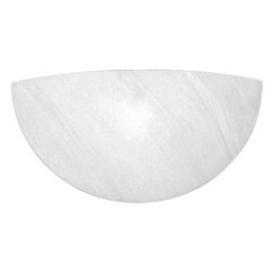 Progress Lighting - Progress Lighting P7151-51 Wall Pocket Decorative Wall Pocket in Faux Alabaster - Quarter sphere wall pocket. For horizontal mounting. Must be used with wall box (P4, P3, or P5) or surface mount back plate (P7200-30).
