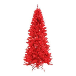 Paradise Red Tinsel Tree - A BRIGHT RED DELIGHT FOR CHRISTMAS