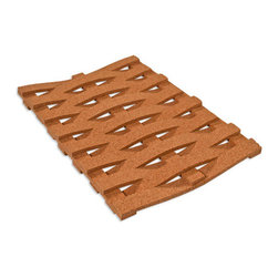 The Felt Store - Cork Hot Pad - Twist (300 X 200 X 10mm) - The Felt Store's Cork Hot Pads are an essential part of your tableware for the eco-conscious! This Cork Hot Pad is both naturally stylish and functional as it is a perfect way to protect your table and various surfaces from hot pots, pans and dishes in your kitchen and dining area! Serve your food in style with our Cork Hot Pads available in different shapes and sizes. This product is a rectangle that is woven or twisted in shape which adds contemporary flare to your table! This product can be wiped clean with a damp cloth. This Cork Hot Pad Twist is approximately 12 inches long, 8 inches wide and 0.40 inches thick in dimension.