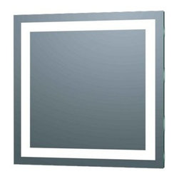 Afina Illume IL-2424-S LED Backlit Square Bathroom Mirror - 24 x 24 in. - With its frameless design and bright LED lighting, the Afina Illume IL-2424-S LED Backlit Square Bathroom Mirror - 24 x 24 in. adds modern style and practicality to your bath. This backlit bathroom room has a unique square shape and easy on and off button switch. About AfinaAfina Corporation is a manufacturer and importer of fine bath cabinetry, lighting fixtures, and decorative wall mirrors. Afina products are available in an extensive palette of colors and decorative styles to reflect the trends of a new millennium. Based in Paterson, N.J., Afina is committed to providing fine products that will be an integral part of your unique bath environment.