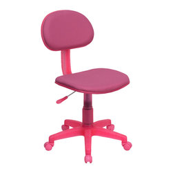 Flash Furniture - Flash Furniture Pink Fabric Ergonomic Task Chair - BT-698-PINK-GG - The perfect chair for any room in your home. Whether for the kids or for your home office, this chair will be a perfect addition. This chair will be a welcome and personal addition for any home office or home study area. [BT-698-PINK-GG]