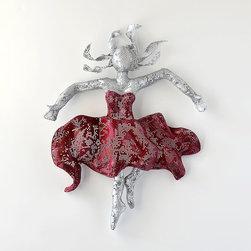 Metal wall art - Ballet dancer - Metal Wire Mesh Sculpture - dancer art - home decor - metal art - unique gift