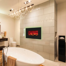 Contemporary Indoor Fireplaces by Ventless Fireplace Pros