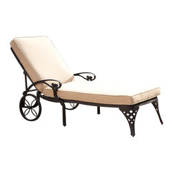Home Styles - Home Styles Biscayne Black Chaise Lounge Chair Taupe Cushion - Home Styles - Patio Lounges - 5554831 - Create an intimate conversation area with Home Styles� Biscayne Chaise Lounge Chair.