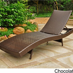 International Caravan - International Caravan Barcelona Resin Wicker/Aluminum Outdoor Multi-position Cha - Rest,read,tan,or simply lounge away the day in comfort on the Barcelona 5-position chaise lounge.  Made with UV and Weather-resistant hand-woven resin wicker,this chaise lounge is built on a sturdy aluminum frame.
