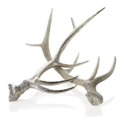 Z Gallerie - Faux Deer Antler - Z Gallerie introduces the time-honored use of antlers as a decorative element, but with an animal-friendly sensibility. Our exclusive natural Faux Deer Antler is molded and detailed to appear virtually indistinguishable from the authentic article. The Faux Deer Antler offers a modern twist. Available in silver or natural. Sold separately.