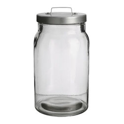 Ria Falk - BURKEN Jar with Lid, 74 oz. - Everything looks better in glass jars. I'd love to get my hands on about 20 of these. Using these will make any pantry or cupboard look less cluttered and far more pretty.