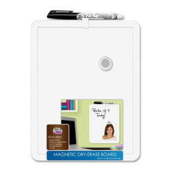 "The Board Dudes - The Board Dudes MetLX Magnetic Dry-Erase Board, 8.5""x11"" - Magnetic dry-erase board is perfect for drawing/writing at your home office or interactivity in a classroom. Encased in a white plastic frame, the dry-erase surface provides an easy-to-use and easy-to-maintain way to conserve paper. Magnetic element lets you post notes, tickets and other paper items you don't want to lose. Simply post with the included magnets. Dry-erase board also includes a dry-erase marker and hanging hardware."