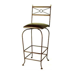 """Grace - Classico 24"""" Swivel Stool - Features: -Painted according to your choice of metal finish. -Ships fully assembled. -Dimensions: 16"""" W x 20"""" D x 43"""" H. -Seat height: 24"""". -Artistically crafted in wrought iron. -Available in 12 designer metal finishes. -Suited for Residential use only."""