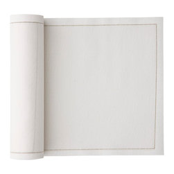 MYdrap - Linen Cocktail Napkins, Ecru (roll of 50) - Cocktail napkins add a classy touch to happy hour, but often seem like a waste of paper. These reusable cotton/linen blend cocktail napkins are a nice solution. You get 50 napkins on a roll; they tear off easily and hold up better than paper napkins. After they are used, you can choose to discard them or wash and reuse them up to six times.