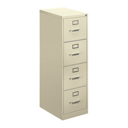 "Hon - Hon 410 4-Drawer Letter File Cabinet - Here's a case to hold your ""X"" files and every other file, too, for that matter. Store secret information on everything from ""Apparitions"" to ""Zombies"" in the four drawers made of putty-colored steel. The truth is out there — and in here."