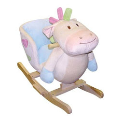 Fifthroom - Plush Happy Rocking Horse - This happy horse will smile his way into your child's heart. The soft, comfortable seat fits children 18 months and older and up to 80 lbs.