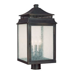 """Capital Lighting - Capital Lighting 9117 3 Light 22"""" Height Outdoor Post Lantern from the Sutter Cr - Capital Lighting 9117 Sutter Creek Collection 3 Light 22"""" Height Outdoor Post LanternFrom the Sutter Creek Collection, this stylish three light outdoor post lantern will provide ample lighting. Post lanterns create a charming greeting to guests and extra security for those dark areas. Features:"""