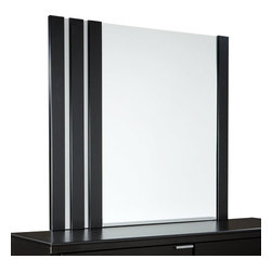 Standard Furniture - Standard Furniture Infinity Rectangular Mirror in Ebony Black - Infinity Bedroom has a fresh modern vibe with its edgy asymmetrical details and eye-catching metallic accents.
