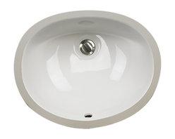 "Nantucket Sinks - Nantucket Sink UM-15x12-W Ceramic Lavatory Sink - Nantucket Sinks UM-15x12-W - 15"" x 12"" Undermount Ceramic Oval Bathroom Sink in White. This sink has a 1.75"" drain diameter."