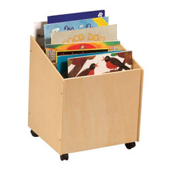 """Guidecraft - Big Book Storage Box - This Big Book Storage Box features casters for easy mobility, center dividers for separating items, and a handy size for both adults and children to gain access. The smooth, natural finish looks great in the home or in a learning center. Some assembly required.   Features: -Features center dividers, a handy size for children and adults, and casters -For children of all ages -Overall dimensions: 21.75"""" H x 17.75"""" W x 16.50"""" D"""