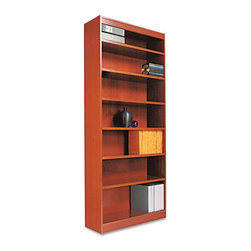 Alera - Alera BCS78436MC Square Corner Wood Veneer Bookcase - Medium Cherry Multicolor - - Shop for Bookcases from Hayneedle.com! About AleraWith the goal of meeting the needs of all offices -- big or small casual or serious -- Alera offers an excellent line of furnishings that you'll love to see Monday through Friday. Alera is committed to quality innovative design precision styling and premium ergonomics ensuring consistent satisfaction.