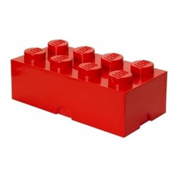 LEGO - LEGO Storage Brick 8, Bright Red - Our Lego Storage Brick 8 in bright red isn't simply a container  it's a giant Lego brick that can be used to build oversized creations. Lift off the top to reveal storage space for small toys, regular bricks and building accessories based on your space and needs.
