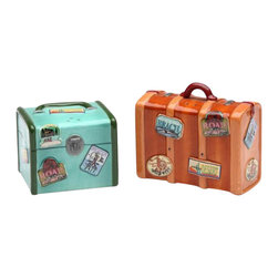 ATD - 2.75 Inch Road Trip Brown and Green Suitcase Salt and Pepper Shakers - This gorgeous 2.75 Inch Road Trip Brown and Green Suitcase Salt and Pepper Shakers has the finest details and highest quality you will find anywhere! 2.75 Inch Road Trip Brown and Green Suitcase Salt and Pepper Shakers is truly remarkable.