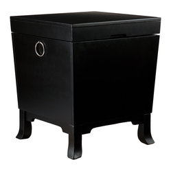 Carberry Trunk End Table in Black