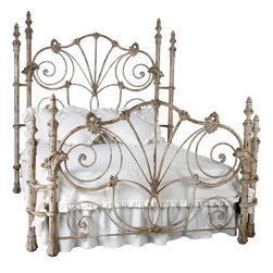 Corsican - Custom Madison Bed, 161-Country White, King - Corsican has been in business over 40 years. Their entire focus is making wrought iron furniture. Many of their skilled craftsman are second generation.