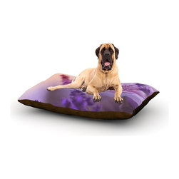 """Kess InHouse - Monika Strigel """"Peonyand Lavender"""" Pink Purple Fleece Dog Bed (50"""" x 60"""") - Pets deserve to be as comfortable as their humans! These dog beds not only give your pet the utmost comfort with their fleece cozy top but they match your house and decor! Kess Inhouse gives your pet some style by adding vivaciously artistic work onto their favorite place to lay, their bed! What's the best part? These are totally machine washable, just unzip the cover and throw it in the washing machine!"""