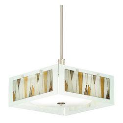 Kichler - Kichler 65434 Khione 4 Light Pendant or Semi-Flush Indoor Ceiling Fixture - Kichler 65434 Khione Convertible Pendant / Semi Flush Ceiling Light