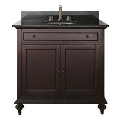 "Avanity - Avanity Merlot 36 Vanity Cabinet Only, Espresso (MERLOT-V36-ES) - Avanity MERLOT-V36-ES Merlot 36"" Vanity Cabinet Only, Espresso"