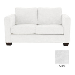 Apt2b - Catalina Apt. Size Sofa, White - The Catalina Collection is the perfect choice for a look that never goes out of style. It's simple and sleek design features a high track arm and wooden blocked feet.