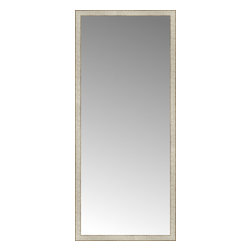 """Posters 2 Prints, LLC - 32"""" x 73"""" Libretto Antique Silver Custom Framed Mirror - 32"""" x 73"""" Custom Framed Mirror made by Posters 2 Prints. Standard glass with unrivaled selection of crafted mirror frames.  Protected with category II safety backing to keep glass fragments together should the mirror be accidentally broken.  Safe arrival guaranteed.  Made in the United States of America"""