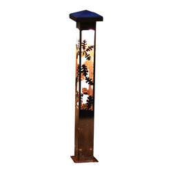 "Attraction Lights - Path Light-Decorative Steel- Oak Design, 24"" - -Solid, 1/8"" high grade steel construction"