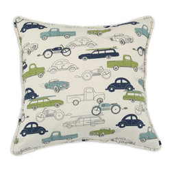 Chooty & Co. - Chooty and Co Retro Rides Felix Natural Self Corded D-Fiber Pillow Multicolor - - Shop for Pillows from Hayneedle.com! About Chooty & Co.A lifelong dream of running a textile manufacturing business came to life in 2009 for Connie Garrett of Chooty & Co. This achievement was kicked off in September of '09 with the purchase of Blanket Barons well known for their imported soft as mink baby blankets and equally alluring adult coverlets. Chooty's busy manufacturing facility located in Council Bluffs Iowa utilizes a talented team to offer the blankets in many new fashion-forward patterns and solids. They've also added hundreds of Made in the USA textile products including accent pillows table linens shower curtains duvet sets window curtains and pet beds. Chooty & Co. operates on one simple principle: What is best for our customer is also best for our company.