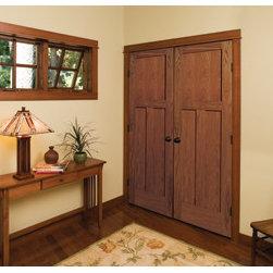 Wood Doors - Godlen Oak Craftsman Style Door by HomeStory Doors