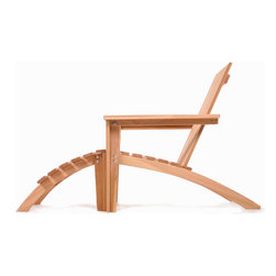 All Things Cedar - Cedar  Adirondack Easybac Set - Traditional Adirondack styling with an extra measure of class makes this Adirondack more than just your average piece of yard furniture. Item is made to order.