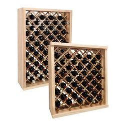 Wine Cellar Innovations - Vintner Series Wine Rack - Individual Diamond Bin Wine Racks - With the enhanced design of the Vintner Series Individual Diamond Bin wine rack, each wine bottle is stored in an individual cradle, yet at a diagonal pattern, creating a very dramatic storage display for your prized possessions. Popular for kitchen cabinet wine rack. Purchase two to stack on top of each other to maximize the height of your wine storage. Moldings and platforms sold separately. Assembly required.
