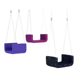 Softline Children's Indoor Swing - I have five children and every one of them loves to swing. I imagine if I installed a ME & U upholstered indoor swing in our home I would win Mother of the Year.