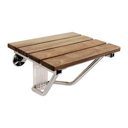 SteamSpa - F Wood Folding Wall Mounted Shower Seat Bench By SteamSpa - DESCRIPTION