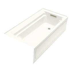 KOHLER - KOHLER K-1125-RA-0 Archer 6' Bathtub with Comfort Depth Design - KOHLER K-1125-RA-0 Archer 6' Bathtub with Comfort Depth Design, Integral Apron and Right-Hand Drain in White