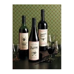Martha Stewart Crafts Skeleton Beverage Labels - Dress up wine bottles that will be enjoyed during the party or empty bottles to use as decorations throughout the house with these labels.