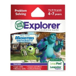 Leap Frog - LeapFrog Explorer Disney Pixar Monsters University Learning Game - Through problem-solving and deductive reasoning, your child will train to be a top Scarer, while progressing through 24 levels of Monsters University Scare Games fun.