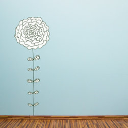 """Floral Flower Vinyl Wall Decal, 12"""" - Vinyl Wall Decals are an awesome way to bring a room to life!"""