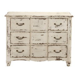 Rustic Wood Chest of Drawer - Description: