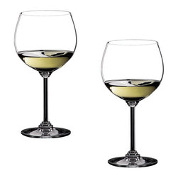Riedel - Riedel Wine Oaked Chardonnay Glasses - Set of 2 - Non lead, machine made. Recommended for: Chardonnay, Corton-Charlemagne, Meursault, Montrachet, Morillon, Neuburger, Neue Welt Chardonnay, Pouilly-Fuiss, Riesling, Riesling Smaragd, St. Aubin, Sauvignon Blanc, Smaragd.