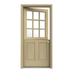 9-Lite Unfinished Hemlock Dutch Entry Door with Unfinished AuraLast Jamb - Consider swapping your traditional front door for a Dutch door to let the nice breeze in.