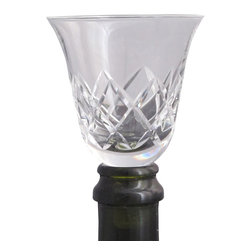 ORourke cut glass - Wine cut glass Tasting glass / stopper - Offering Hand deep cut wine glass which also doubles as a stopper