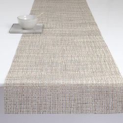 Chilewich - Chilewich Lattice Table Runner, Mica - For your table decor to properly mesh, you should begin with a simple and accommodating base design. In this case, an open weave table runner woven with shimmering threads offers just the understated backdrop drama you're looking for.