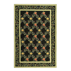 Safavieh - Hand-hooked Garden Trellis Black Wool Rug (6' x 9') - Garden Trellis rug will make a stylish addition to your home decor Hand-hooked area rug is made of 100-percent wool Floor rug features a transitional design