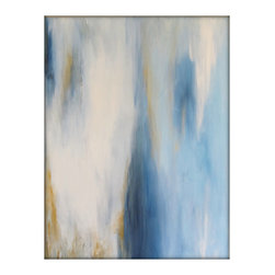 Abstract Original Painting on Canvas Contemporary/Modern Painting - 30x40 - Blue - Original Abstract Painting on Canvas by Gina Perillo